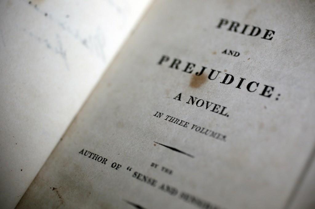 A primeira edição de <i>Pride and Prejudice</i> na Casa Jane Austen House em Chawton
