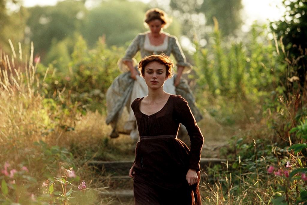 Keira Knightley é Elizabeth Bennett no filme que Joe Wright realizou em 2005