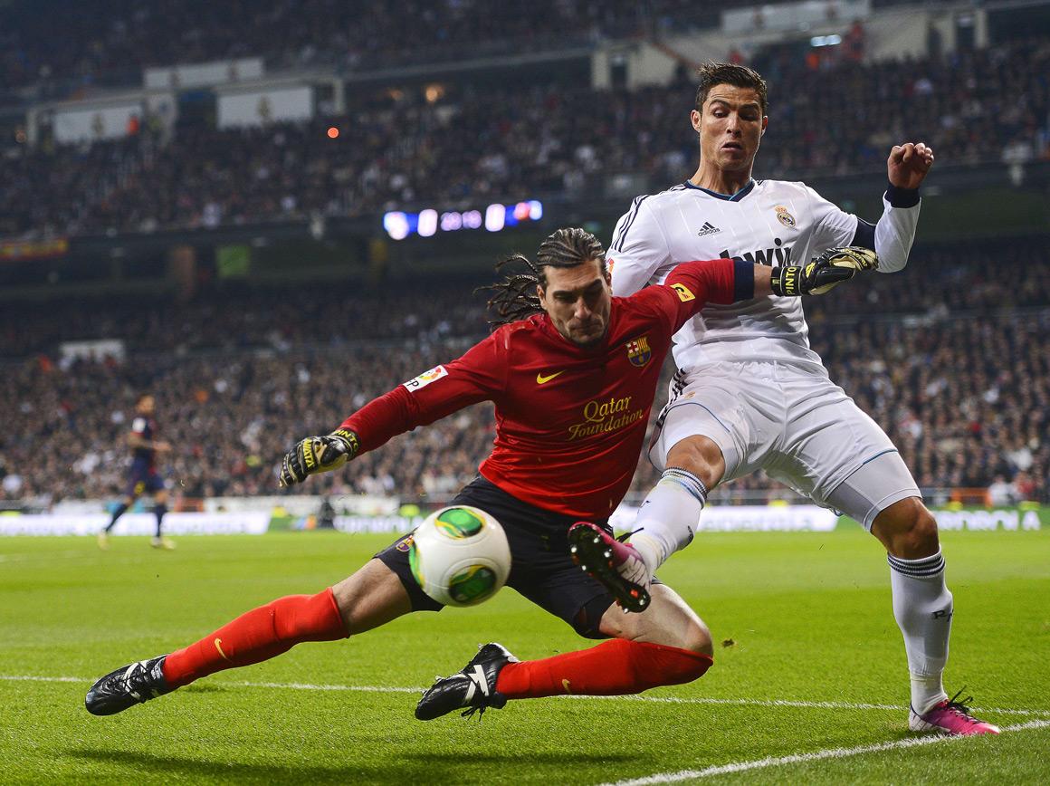 """Pouco Ronaldo e Messi no primeiro """"clássico"""" espanhol de 2013"""