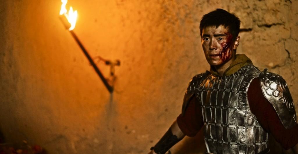 Anjo Guerreiro durante a destruição de Sodoma, cena do primeiro episódio