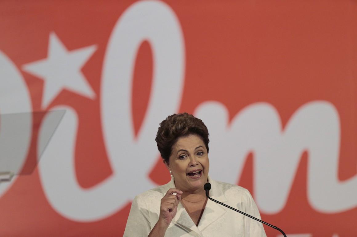 Dilma Rousseff venceu a primeira volta com oito pontos de vantagem
